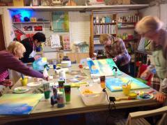 De blauwe appel schilderworkshops