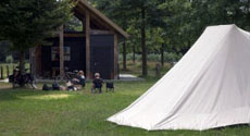 Camping of trekkershut